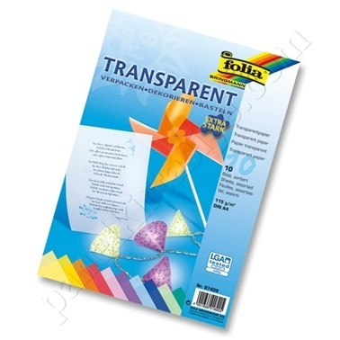 Folia Transparan Kağıt A4 10 Renk Renkli